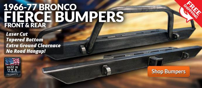 Shop Ford Bronco Fierce Bumpers