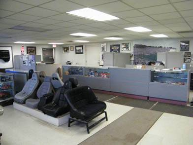 View of the showroom as you enter the front door.