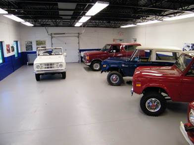 A variety of classic trucks on display.