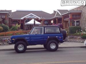 Bronco on oregon coast