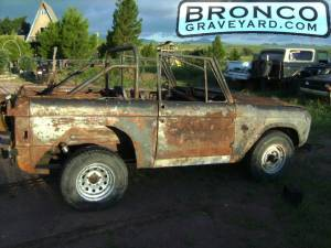 Bronco on fire
