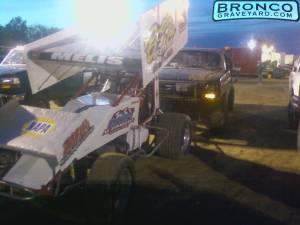 Race track push bumper