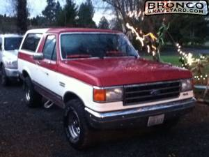 Bronco before lift