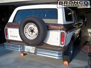 "In the ""bronco shop"""