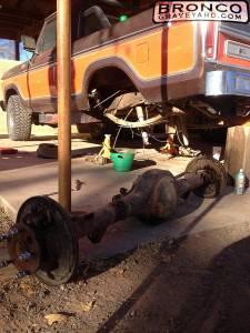 Axle rebuild