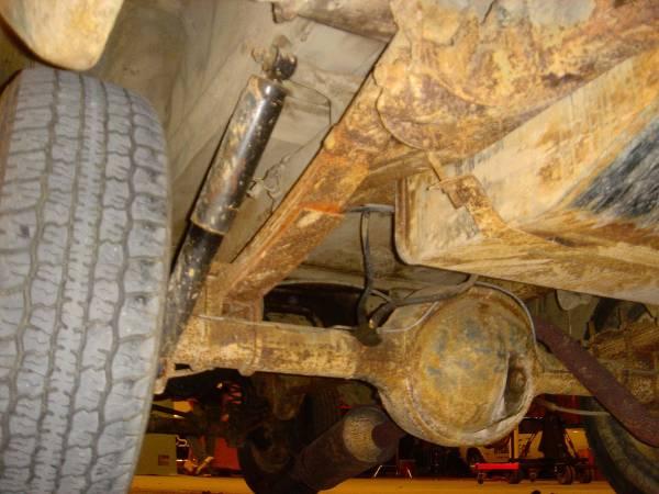 Rear underneath