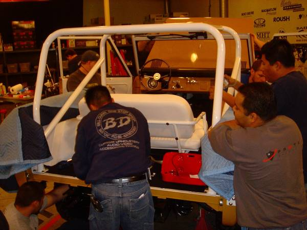 Installing the roll cage