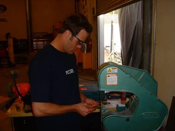 Chris hard at work!