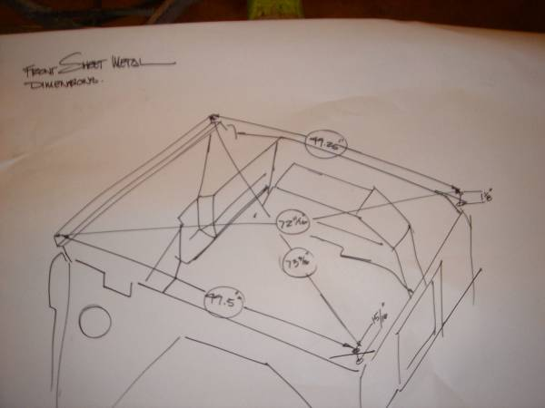 Chip's front sheet metal dimensions
