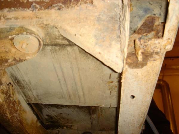 Under driver floor
