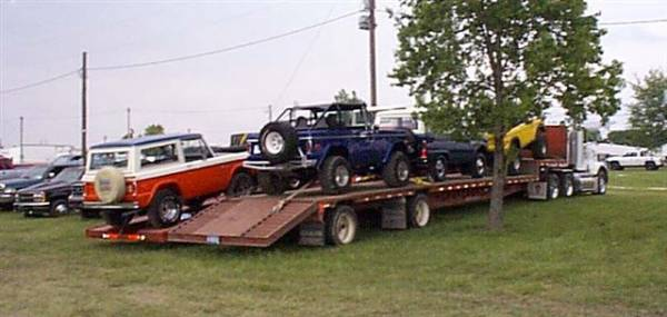 All the trucks loaded at the Lima Jamboree