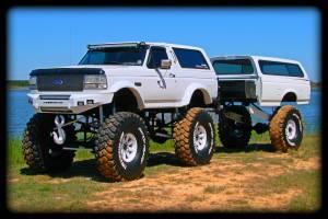 Monster Truck Bronco Buckin Crazy Mega Truck and Trailer